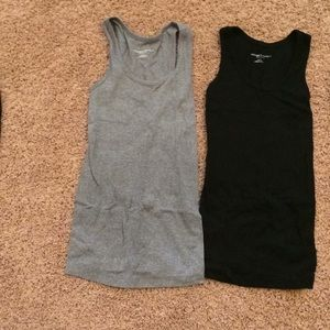 Two maternity tank tops.